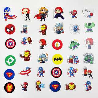 🚚 Marvel/ DC Character Stickers