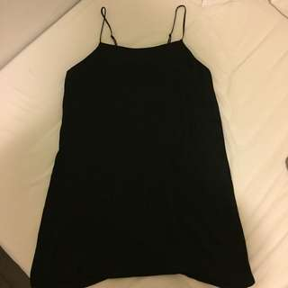 Oak and Fort Black Slip Dress