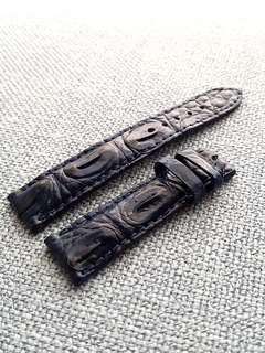 Genuine Crocodile Hornback 20mm watch strap for Rolex Omega JLC Grand Seiko Daniel Wellington Hypergrand etc