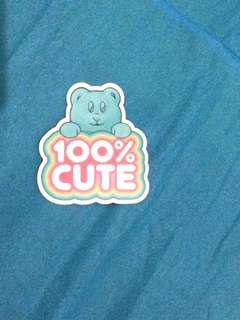 Sticker beruang sugar bear hair