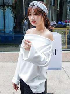 🚚 (全新免運)韓系寬版針織交叉髮帶