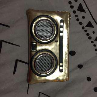 Gold purse speaker