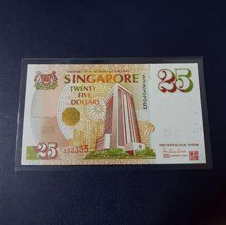 🇸🇬 Singapore MAS $25 Commemorative Banknote~Nice number 332335