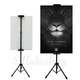 [Sellabrations] Poster Advertisement Promotion Menu Tripod Stand (Up to A0)