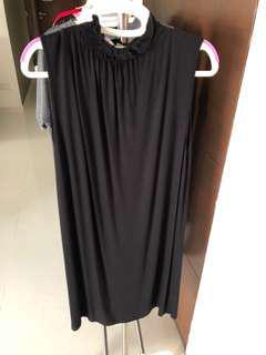 Asos sleeveless black dress