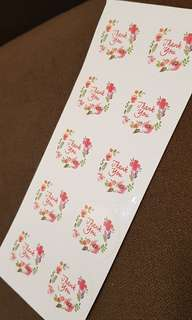 NEW 10pcs Buy 1 Take 1 Floral Thank You Stickers