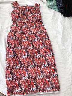 Pretty red dress size 8