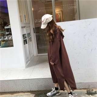 🚚 連帽連衣裙(咖啡色)#女裝88