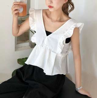 BNIP Cropped White Top One Size