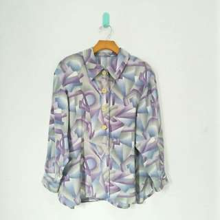 Purple Abstract Blouse