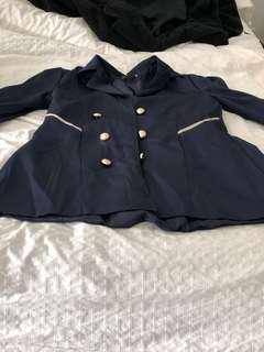 Wish thin Navy coat size M