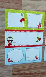NEW Buy 1 Take 1 Colorful Foil Imprinted Christmas Sticker Labels