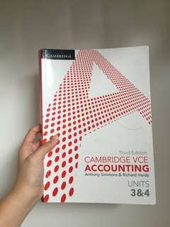 Cambridge VCE Accounting Units 3&4 3rd edition