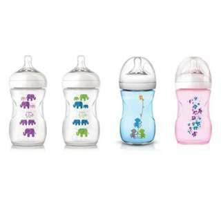 Botol susu avent nipple size 5 warna pink