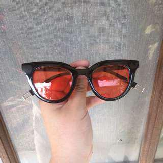 Sunglasses Transparan Red