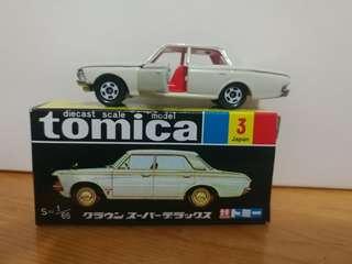 全新絕版tomica 黑黃盒 toyota crown