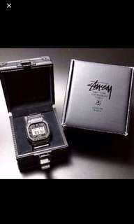 SHOCK x STUSSY 25TH ANNIVERSARY EDITION DW-5000ST-1JR SCREW BACK MODEL released in 2008