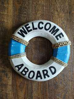 Welcome onboard life buoy