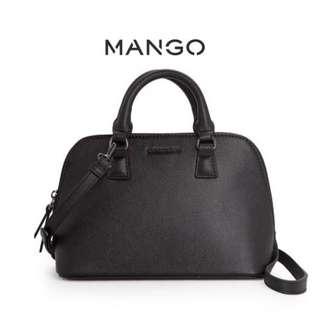 Mango saffiano effect dome handbag
