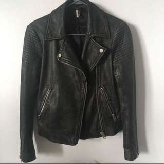 Topshop distresses leather jacket