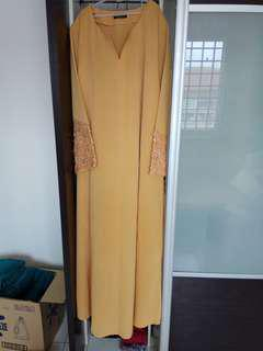 Jubah Kuning Sulam custom Made
