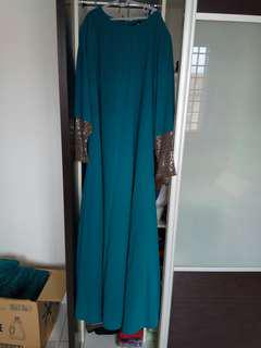 Jubah preloved Green teal