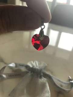 Swarowski Crystal in Red Heart