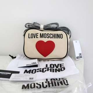 Authentic Love Moschino canvas camera bag