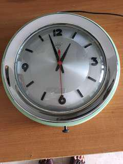 """Very New 12"""" Diamond Brand Electric Wall Clock in Original Condition - Made in Shanghai (China) in the 1960s"""