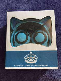 Pre❤️ Cat HeadPhone Happy &Joy Light Up used only once Battery Operated