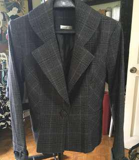 Coat Office Black with fine checkered
