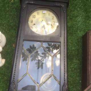 An Used 3 holes wall clock