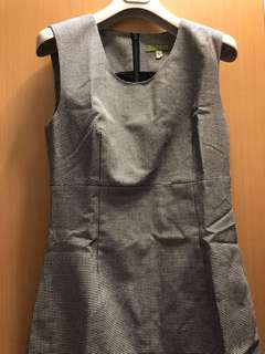 🍄Esprit 黑白色千鳥格背心連身裙 (適合冬天穿著)
