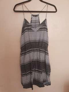Cotton on razor back blue striped dress