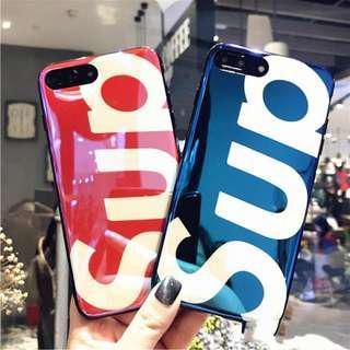 現貨 Sup 手機殼  電鍍 Supreme  保護套 case 買就送手機掛繩  iphone 系列