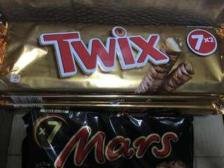 Mars by 7 and twix 7x2