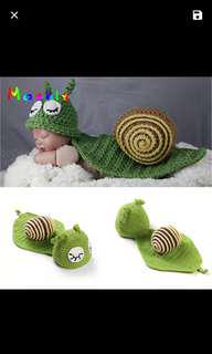Snail newborn photography outfit