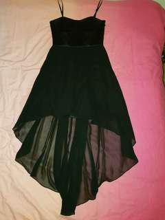 Forever new black fish tail dress