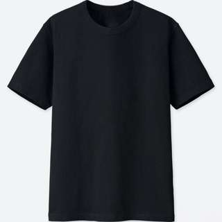 [LAST PRICE] Uniqlo Crew-neck Short Sleeve T-Shirt (Black)