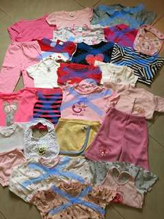 (Set B) Choose Any 5 for Only Php50!!! Baby Girl Clothes (Various Sizes Tops, Shorts, Skirt, Pants, Dress, Bib)