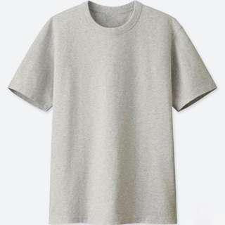 [LAST PRICE] Uniqlo Crew-neck Short Sleeve T-Shirt (Grey)
