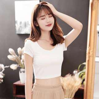 Build-In Bra crop top Padded Comfortable airy