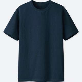 [LAST PRICE] Uniqlo Crew-neck Short Sleeve T-Shirt (Navy)