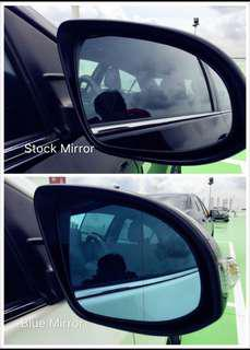 Blue Tinted Wing Mirror Glass