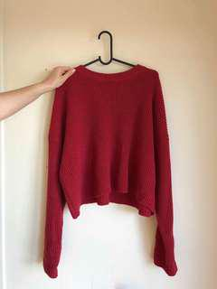 Knit crop jumper