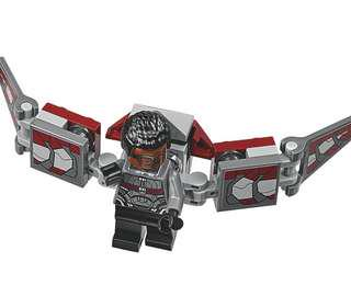 lego falcon minifig from hulkbuster set 76104