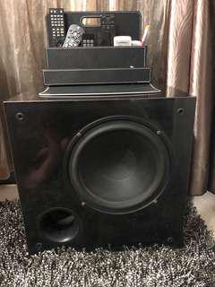 NHT SW2P passive subwoofer system with SA2 amp