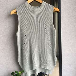 JEANASIS grey knit top
