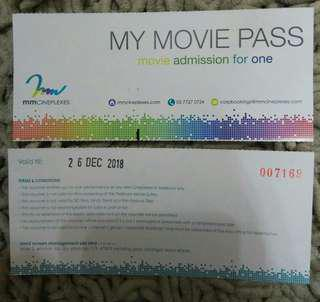 4pcs MMcineplexes Movie ticket