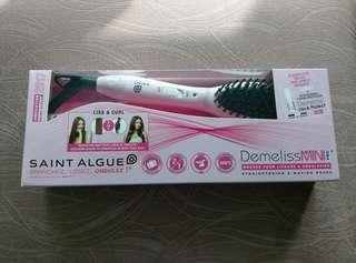 95% 新 - Saint Algue Demeliss mini pro mini-pro粉紅色 pink colour color 迷李版 迷你版 負離子直髪梳 直髪夾 蒸氣髮夾 捲髪棒 電熱梳 原裝附送一支全新 liss & protect 蛋白護髮精華 spray  噴霧 (10ml) 保護髪質 梨花頭 直髪器